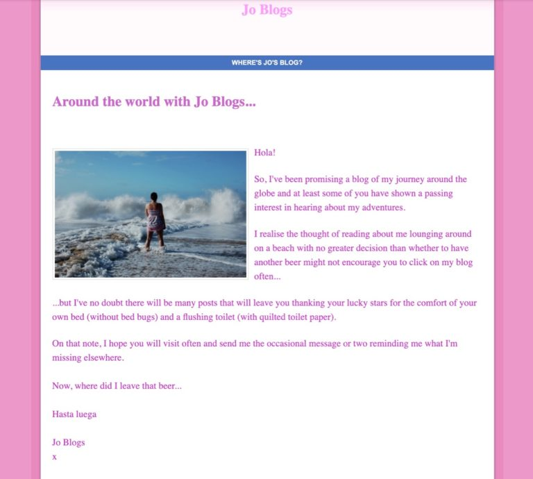 Weebly Indiana Jo website