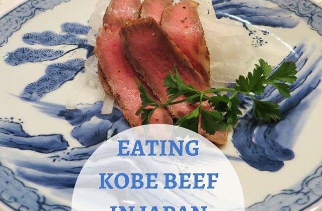 Eating Kobe Beef in Japan