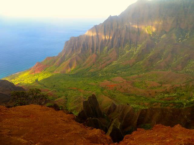 Napali Coast in the Hawaiian Islands