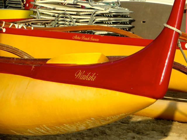 Waikiki Beach Boats in the Hawaiian Islands