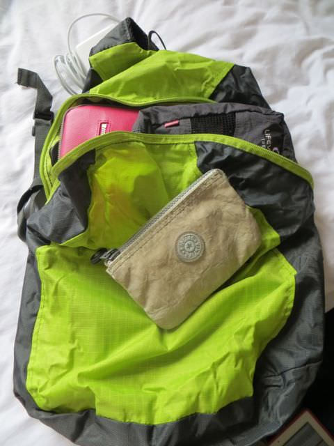 Daypack reduced for packing light