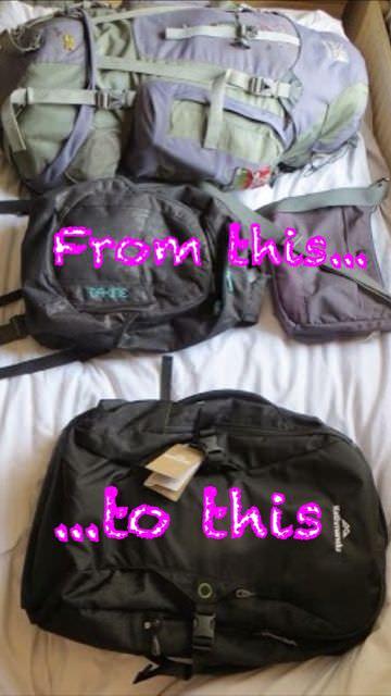 Downsize bag for packing light
