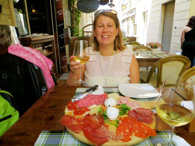 Lunch in Frascati good reason for packing light