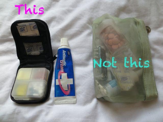Medicine bag for packing light