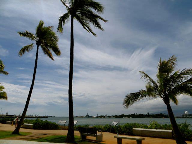 Peaceful complex USS Arizona Pearl Harbor