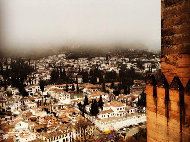 Alhambra in the rain low-season