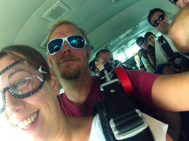 Skydive Hawaii in the plane