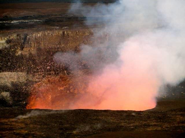 Halemaumau Overlook Dusk Hiding in Hawaii Volcanoes National Par