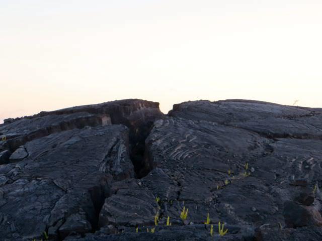 cooled lava Big Island