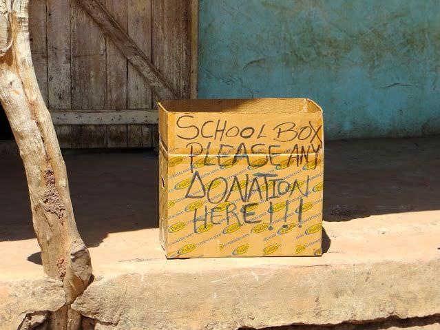 School Donation Box Gambia Tourism