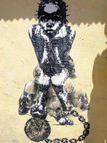 slavery street art Gambia Tourism