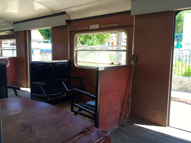 Seats on the Hershey Train Cuba