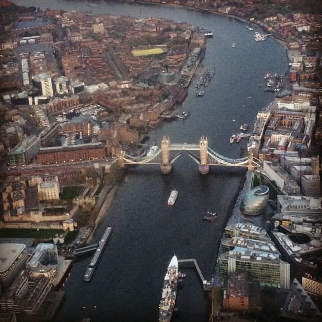 Travel Hacking in the UK Fly for free view of Tower Bridge from City Airport London