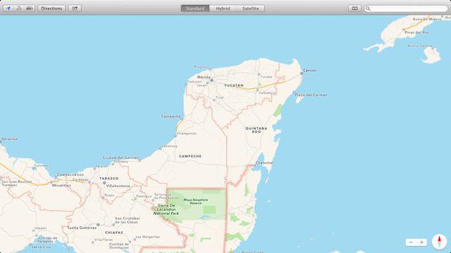 Map of Yucatan Peninsula