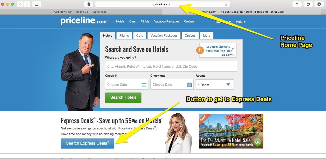 Priceline express deals on hotels