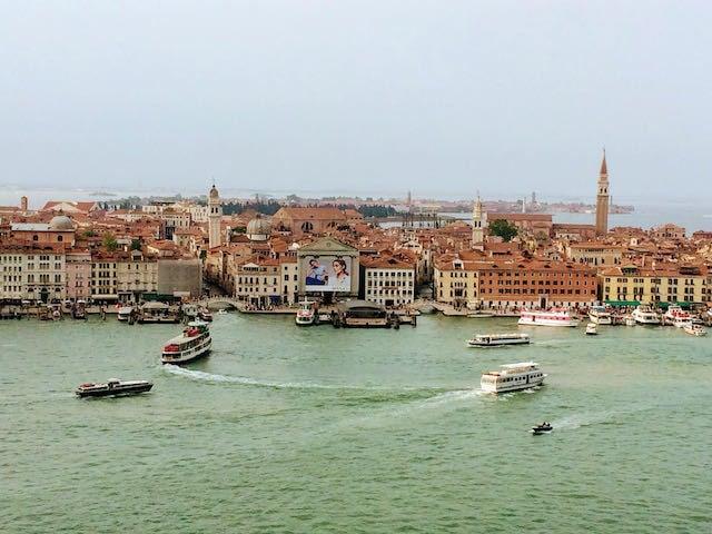 panorama over Venice lagoon italy