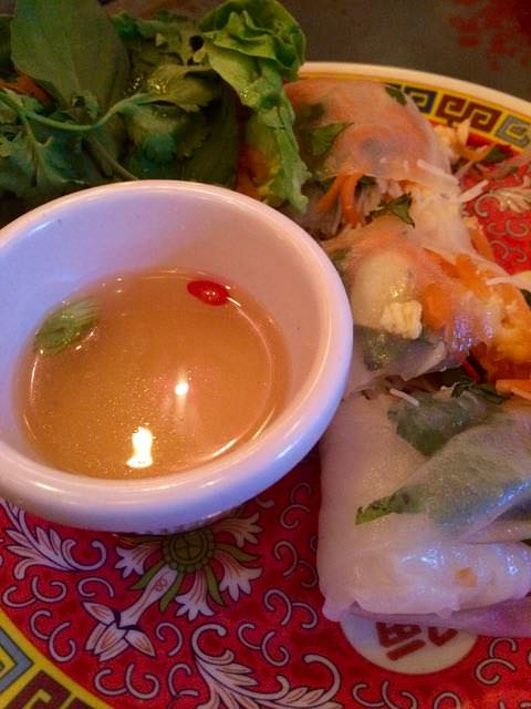 Best things to do in Scotland - fresh spring rolls