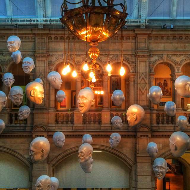 Best things to do in scotland - Kelvingrove Art Gallery Heads