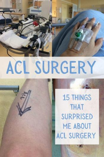 knee surgery for acl in hospital