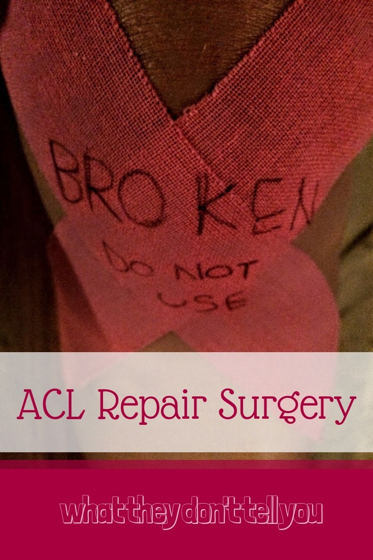 ACL Surgery post for Pinterest