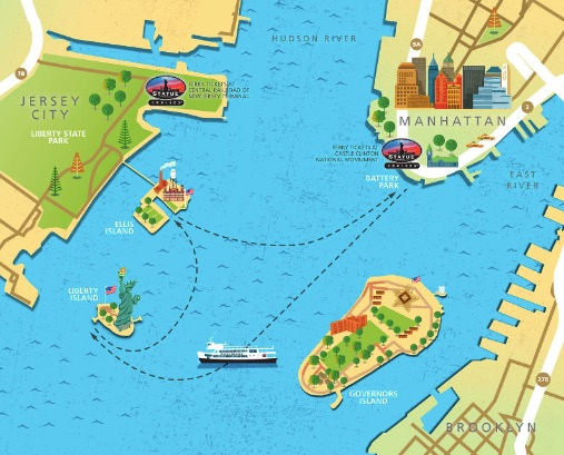 how-to-visit-the-statue-of-liberty-ferry-route