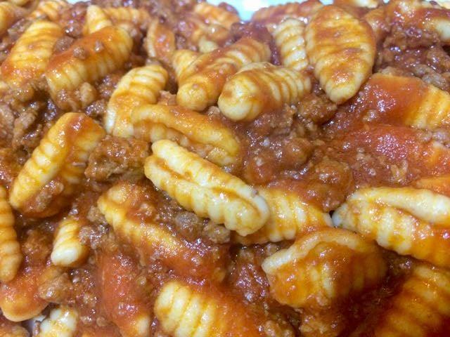 sardinian food Malloreddus alla Campidanese
