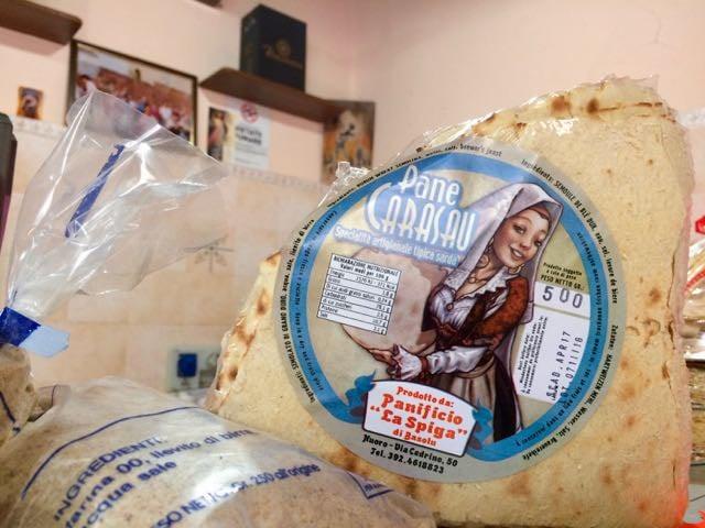 Sardinian Food pane carasau
