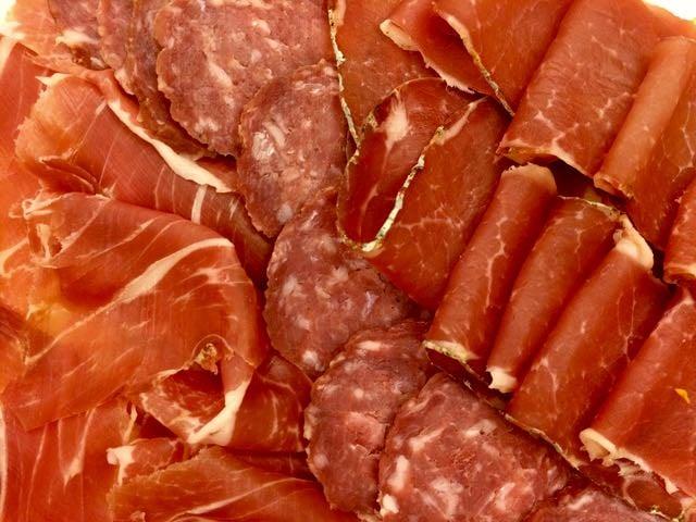 Sardinian Food cured meat