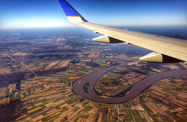 view over new orleans from the air