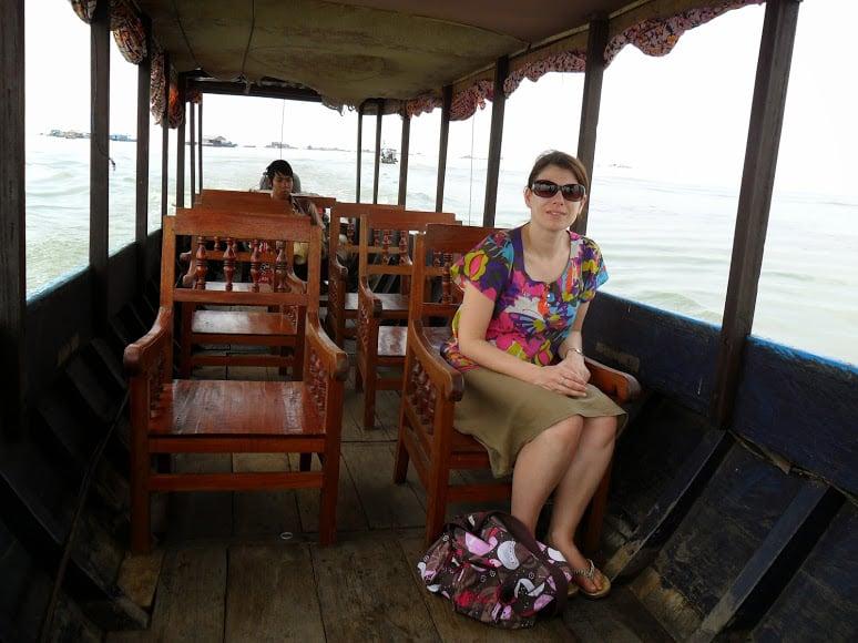 Tonle Sap in Cambodia Boat