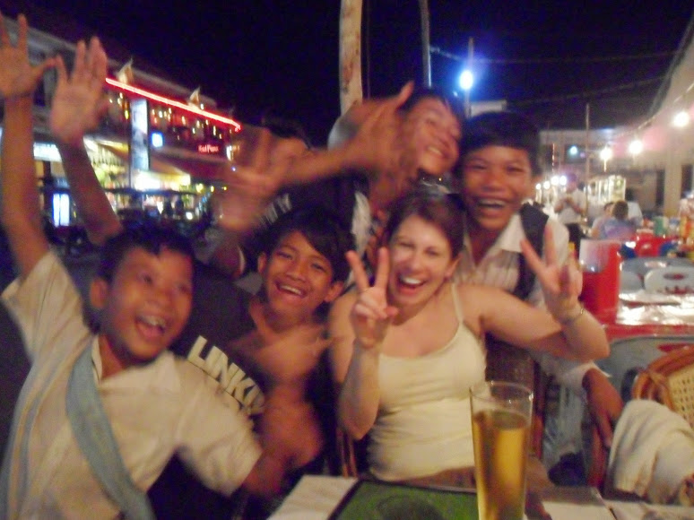 Tonle Sap in Cambodia children