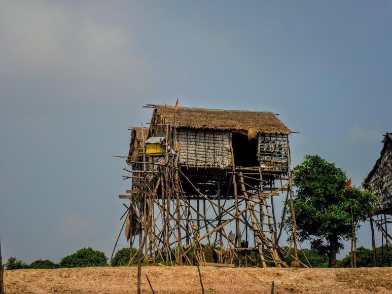 Tonle Sap in Cambodia stilt house