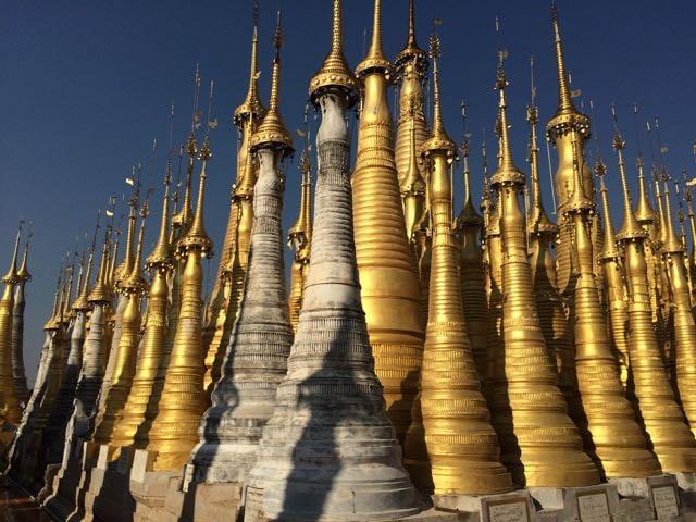Inle Lake Tour Shwe Indein Pagoda restoration