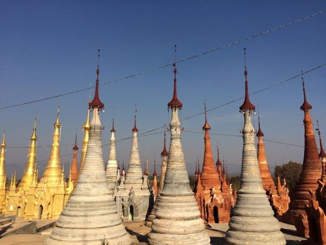 Inle Lake Tour Shwe Indein Pagoda stupas