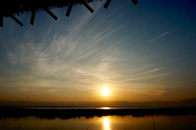 Inle Lake Tour Sun setting