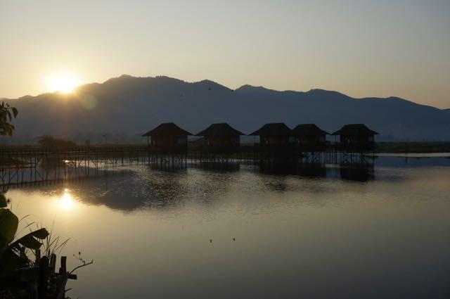 Inle Lake tour sunrise