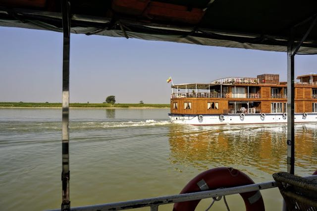 Taking the boat from bagan to mandalay cruise boat