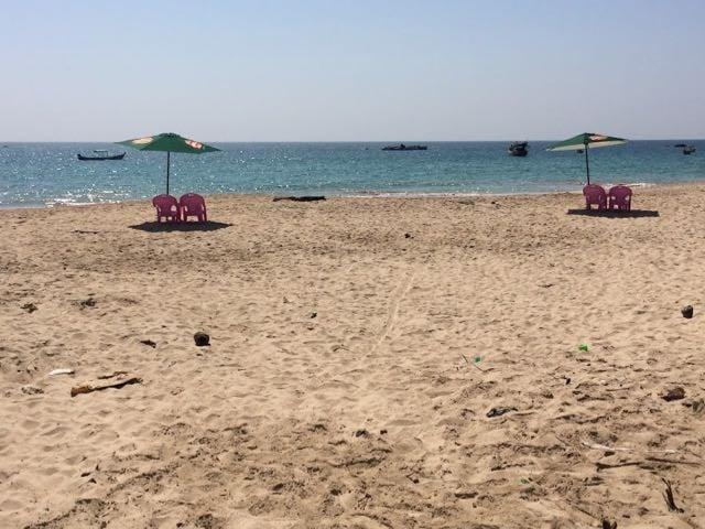 Ngapali Beach Hotels and Restaurants beach empty