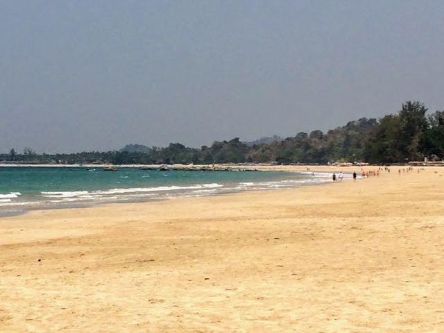 Ngapali Beach Hotels and Restaurants main beach