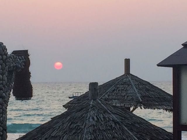 Ngapali Beach Hotels and Restaurants sunset