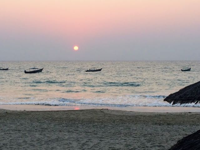Ngapali Beach Hotels and Restaurants sunset 2