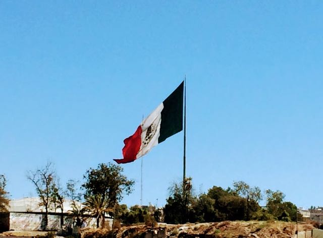 Visiting Tijuana from San Diego - Mexican flag