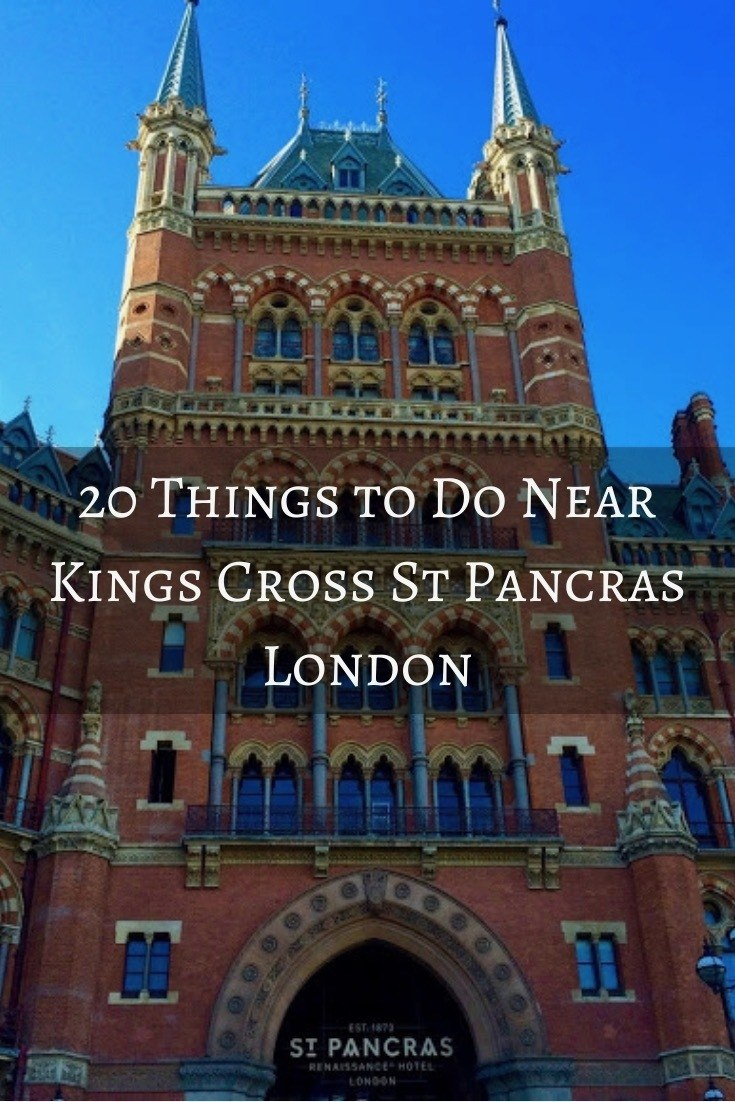 Brown beautiful exterior of Kings Cross St Pancras Station in London England