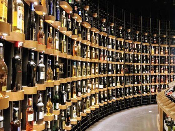 Things to do in Bordeaux Cite du vin bottles