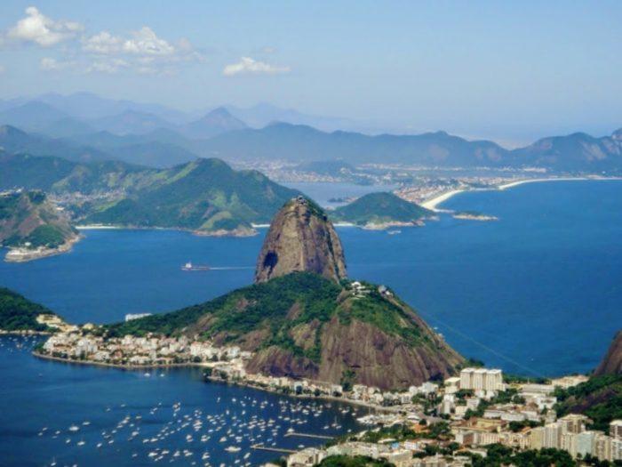 Panoramic view over Rio de Janeiro Brazil