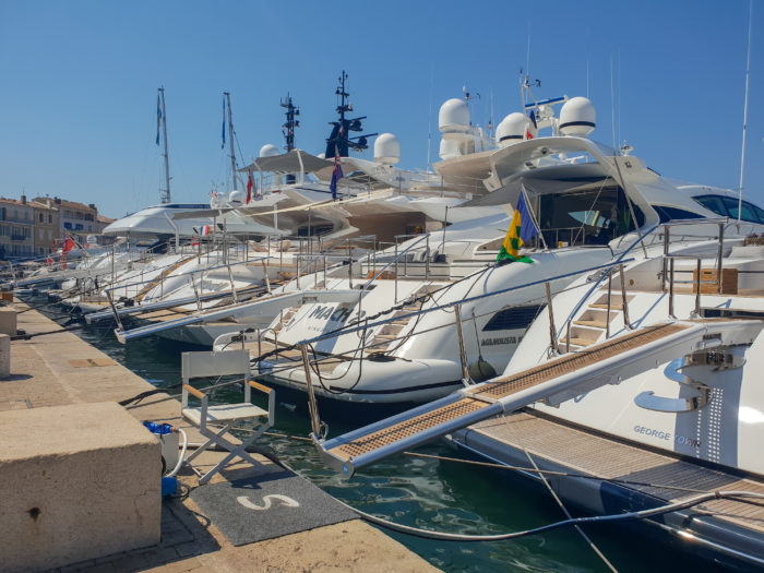 Yachts in St Tropez French Riviera