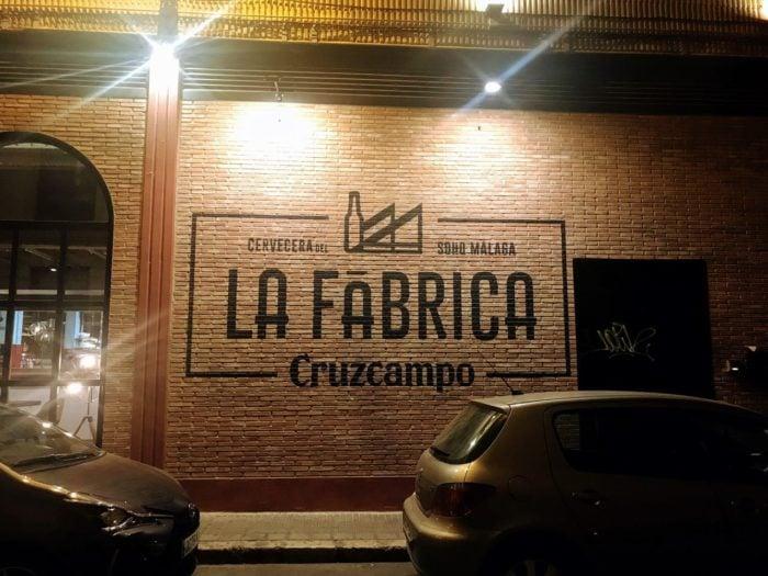 Where to eat in malaga tapas Fabrica Cruzcampo