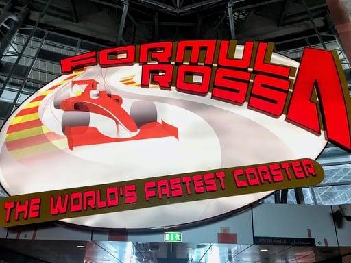 things to do in Dubai - abu dhabi ferrari world fastest roller coaster
