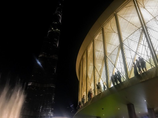 things to do in Dubai - seeing the fountains in Dubai apple store
