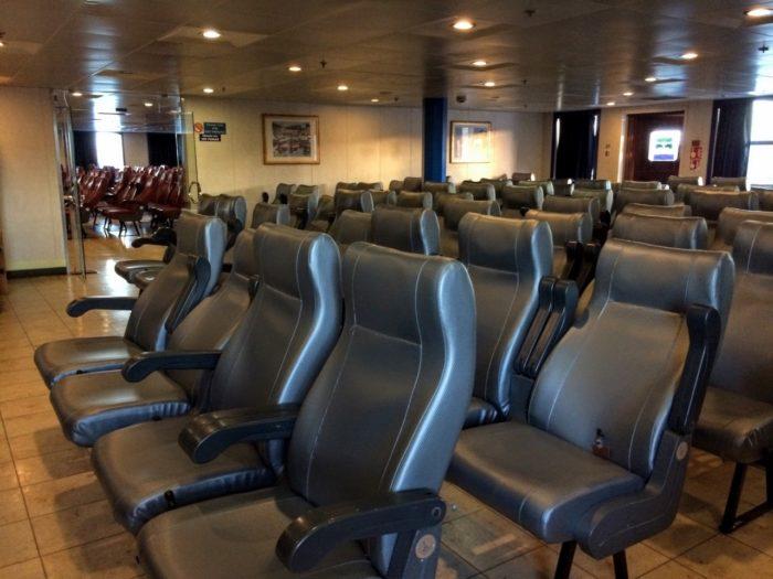 Taking the Baja Ferry from Topolobampo to La Paz seat